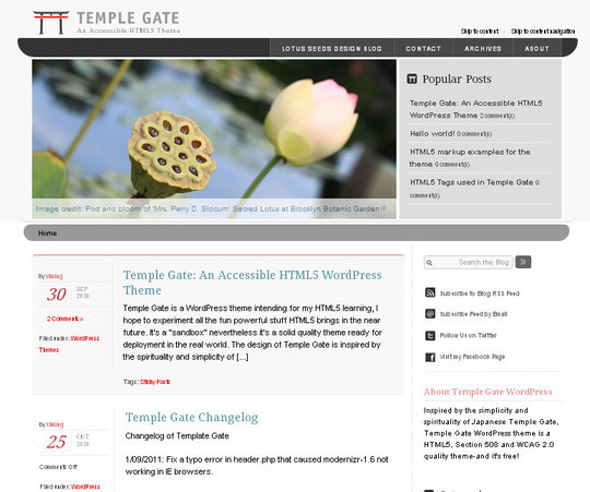 Temple Gate An Accessible HTML5 WordPress Theme