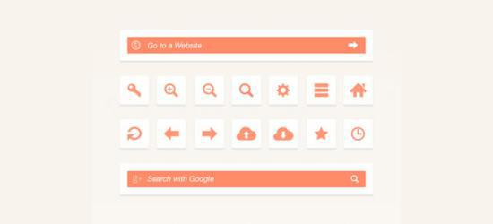 Web Browser UI Elements (PSD) by Bluroon
