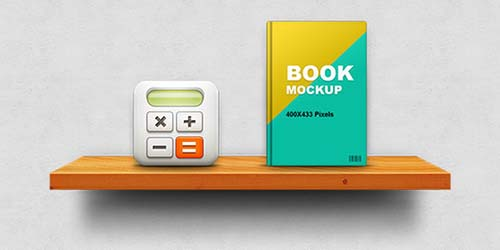 Wooden Shelf Display Mockup