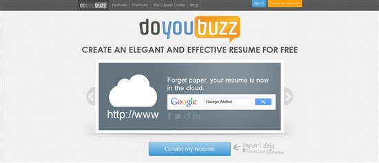 doyoubuzz allows creating an elegant and effective resume free of cost it lets you select your design colors and layout according to your choice - Create My Resume Online For Free
