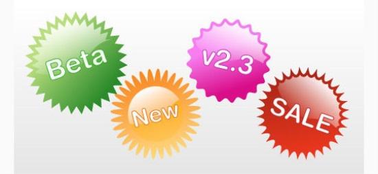 4 Stylish Web 2.0 Badges