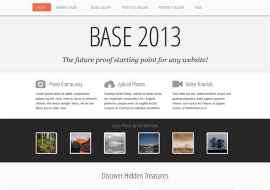 Base 2013 Responsive Html5 Theme