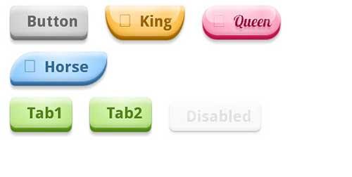 CSS3 BonBon Buttons