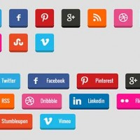Create 3D Social Media Buttons with CSS3