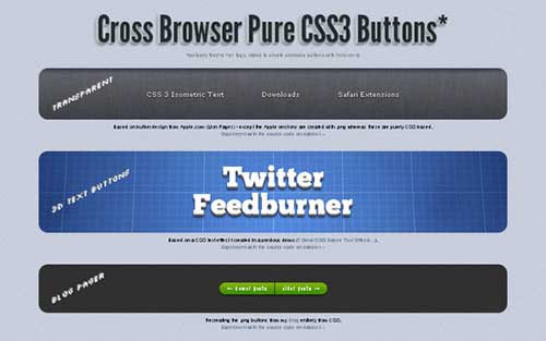 Cross Browser Pure CSS3 Button Demo