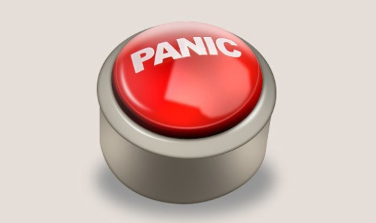 Design panic button logo icon in photoshop