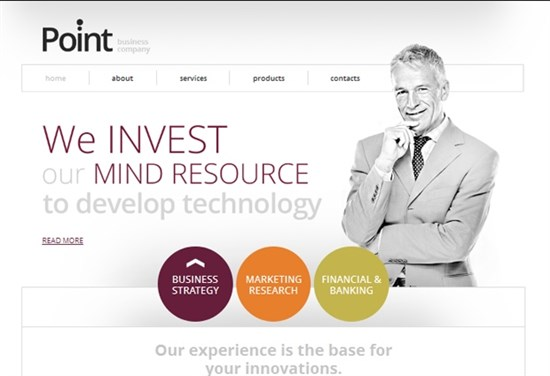 Free Website Template for Business Company