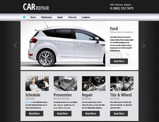 27 free html5 css3 templates for download free website template for car business flashek Choice Image