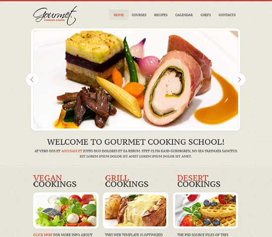 Free Website Template for Cooking Site