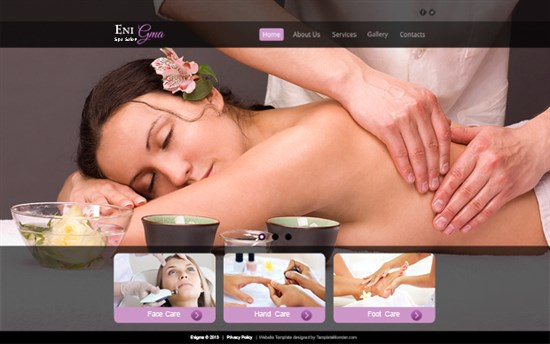 Free Website Template for Spa Salon