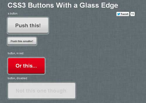 Glass Edge with CSS3 Buttons