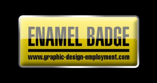 Glassy Button or Enamel Badge