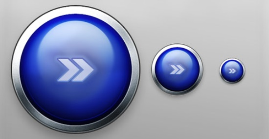 Metallic Blue Button