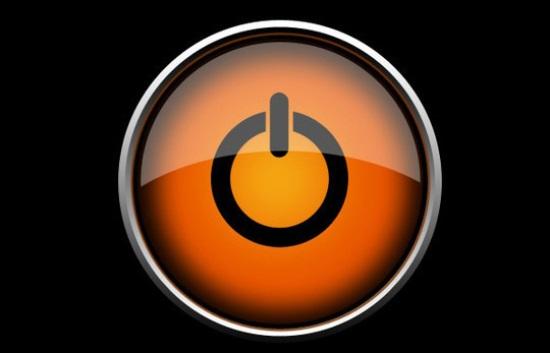 Photoshop turn off Button Logo Stock Photo