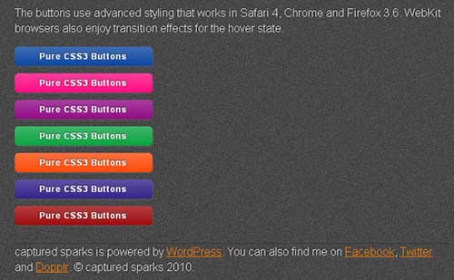 Pure CSS3 Buttons