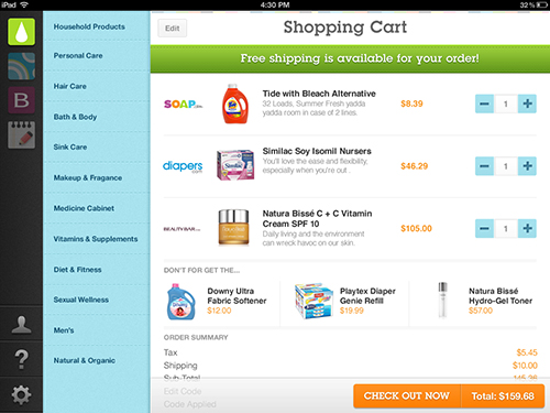 ipad commerce app