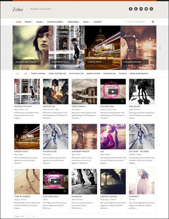 Grid WordPress Themes 50 Best Grid-Based WordPress Themes