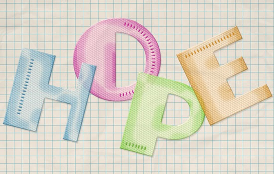 Colorful Textured Plastic Text Effect