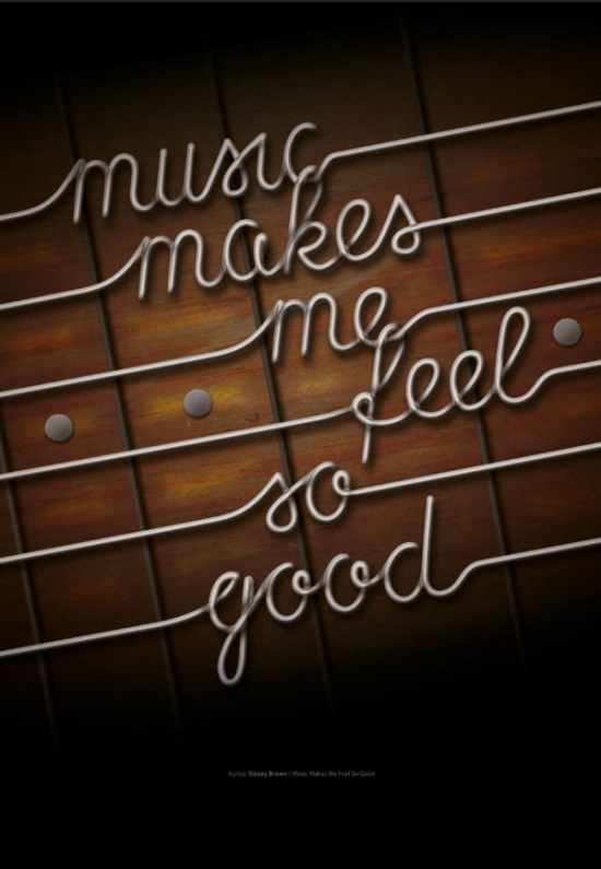 Create Guitar String Typography