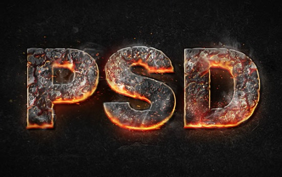 Create a Magma Hot Text Effect in Photoshop
