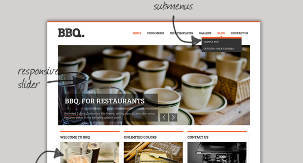 bbq responsive wordpress restaurant themes
