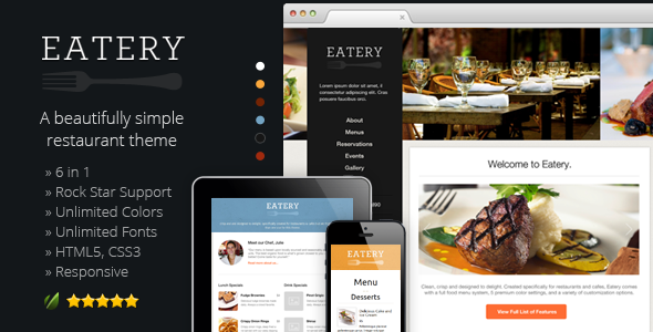 best responsive wordpress restaurant themes 2013