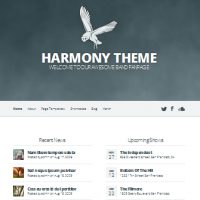 bold typography wordpress theme for bands