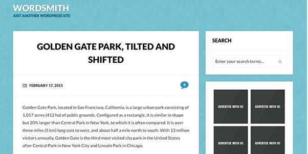 bold typography wordpress theme for blog