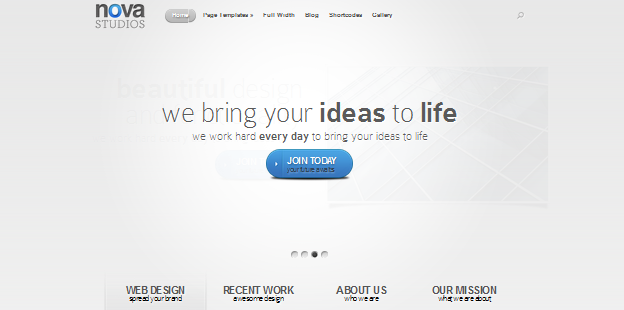 bold typography wordpress theme for business