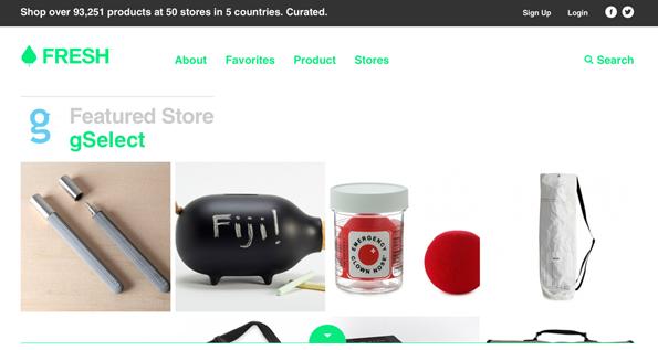 flat ui design inspiration for ecommerce shops