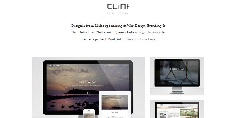 flat ui design inspiration for portfolio website