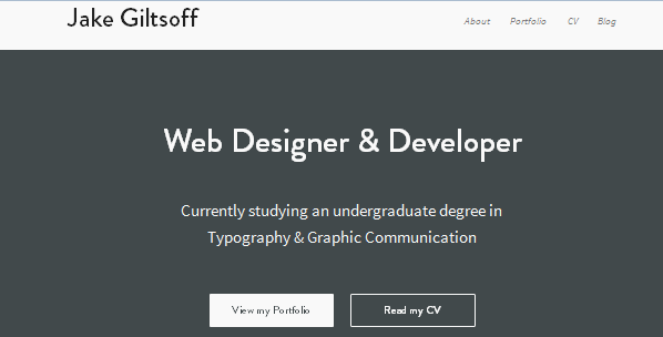 flat ui design inspiration for portfolio