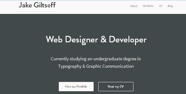 flat ui design inspiration for portfolio
