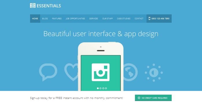 flat ui wordpress theme design
