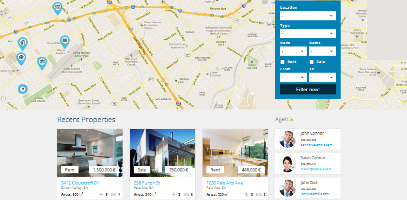 flat ui wordpress theme for real estate