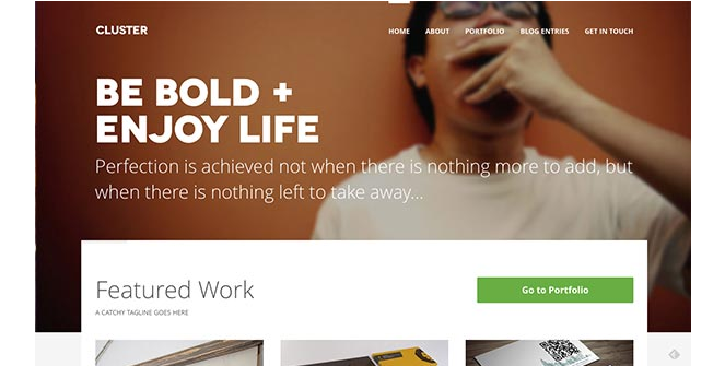 flat ui wordpress theme inspiration