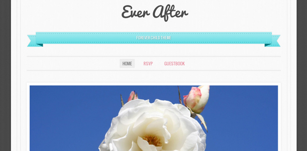 free wedding wordpress themes with beautiful typography