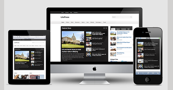 litespeed responsive wordpress magazine themes 2013