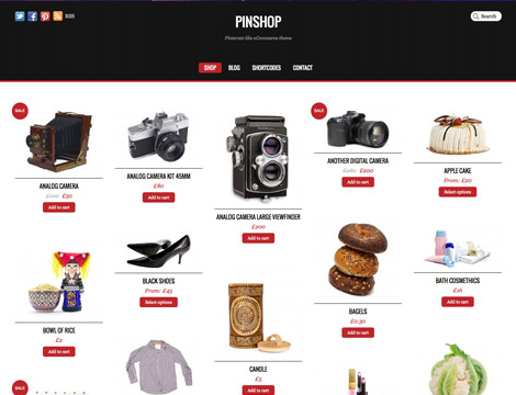 pinterest ecommerce wordpress theme by themify