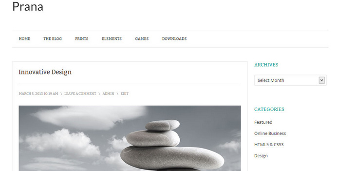 prana wordpress theme