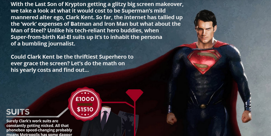 superman cool infographic design 2