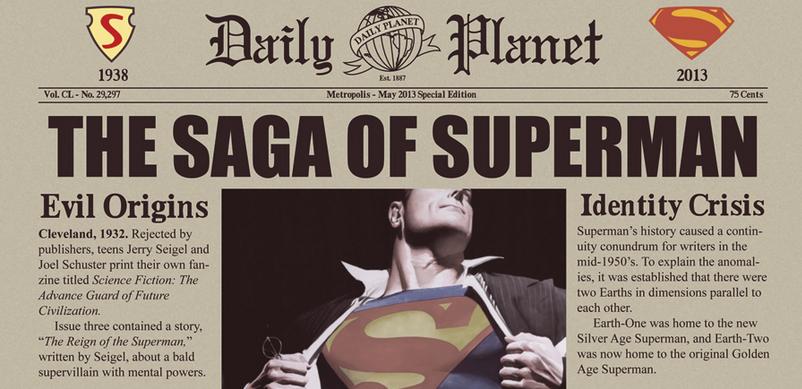 superman cool infographic design 3