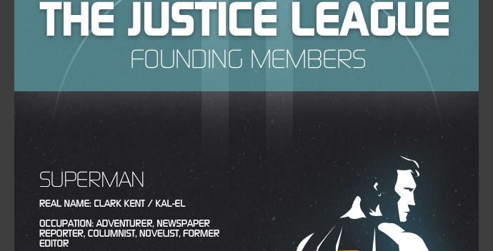 superman cool infographic design 6