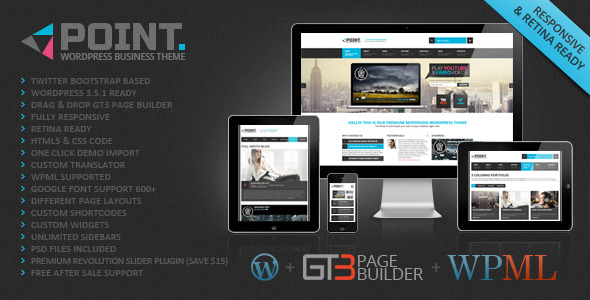 top responsive wordpress business themes 2013