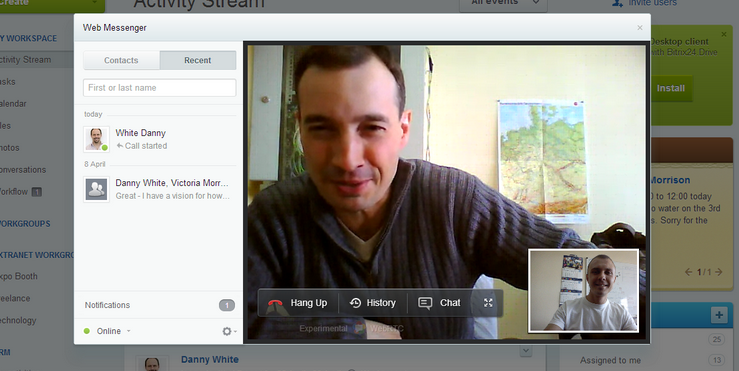 bitrix web based project management software with video calls