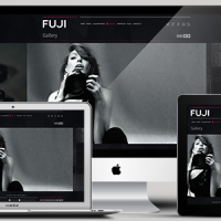black and white portfolio retina responsive wordpress theme