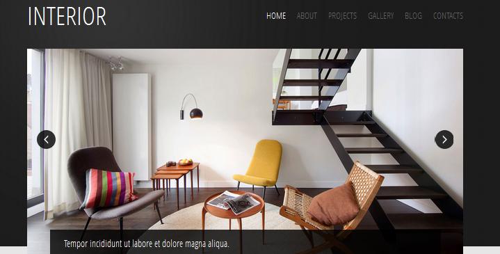 black interior design wordpress themes