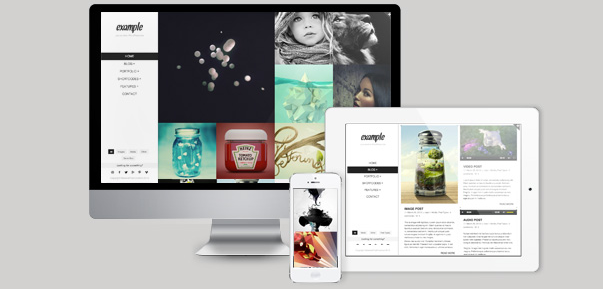 example retina responsive wordpress theme