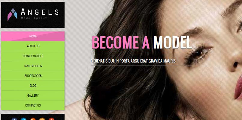 full screen model agency wordpress theme