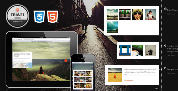 full screen travel wordpress theme